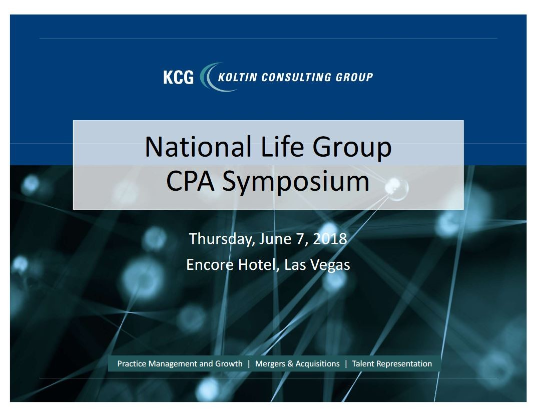 National Life Group's CPA Symposium Presentations
