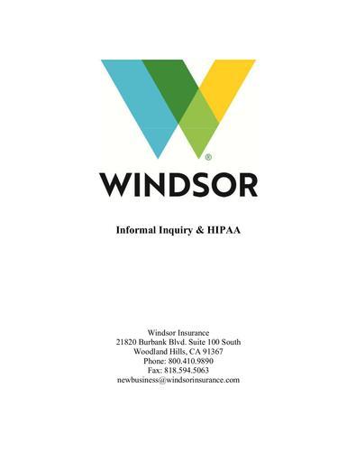 Informal Inquiry HIPAA